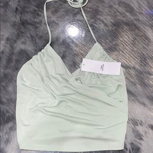 URBAN OUTFITTERS MINT HALTER TANK TOP BRAND NEW